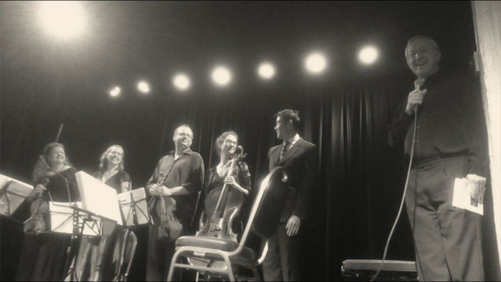 Ovation following the world premiere at Sandgate Town Hall, Brisbane, 5 July 2014