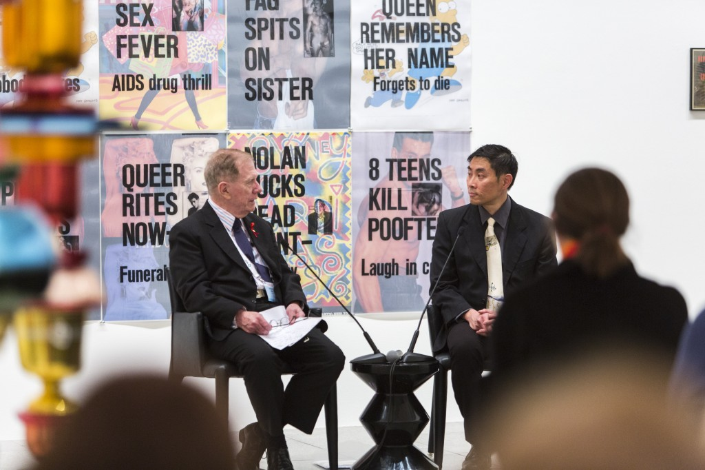 The Hon Michael Kirby in conversation with Lyle Chan onstage at National Gallery of Victoria, 23 July 2014