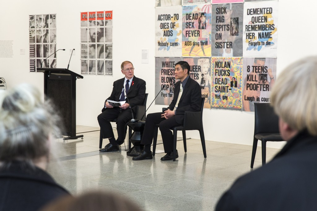 The Hon Michael Kirby in conversation with Lyle Chan onstage at National Gallery of Victoria , 23 July 2014