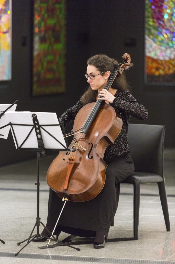 Anna Martin-Scrase. Performance at David McDiarmid retrospective, National Gallery of Victoria, National Gallery of Victoria, July 23, 2014