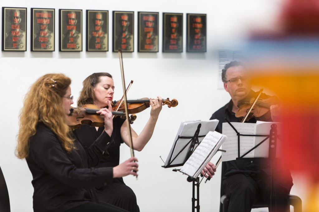 Acacia Quartet. Performance at David McDiarmid retrospective, National Gallery of Victoria, National Gallery of Victoria, July 23, 2014