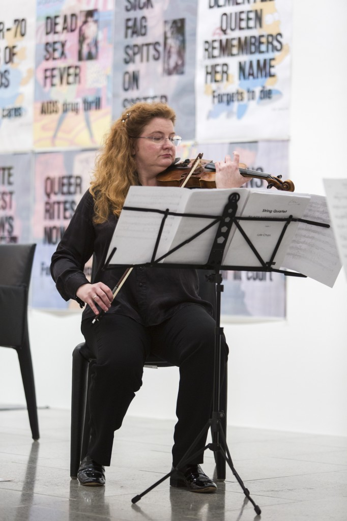 Lisa Stewart. Performance at David McDiarmid retrospective, National Gallery of Victoria, July 23, 2014